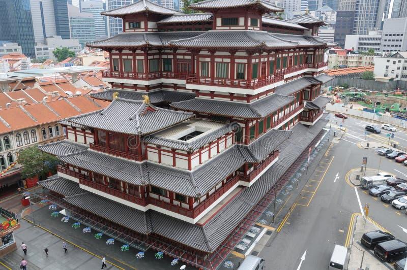 Dente da Buda de Singapura e templo da relíquia imagem de stock