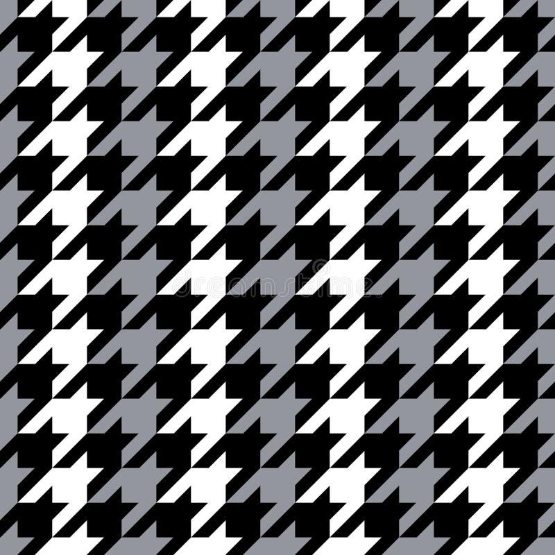 Dente de cães listrado no cinza, preto e branco ilustração stock