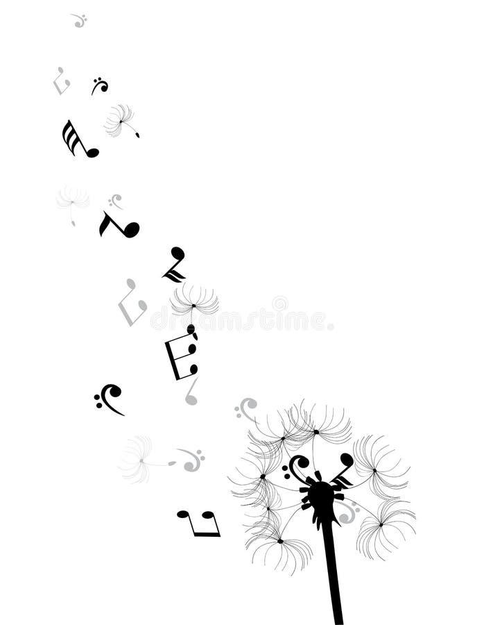 Dente-de-leão ilustração stock