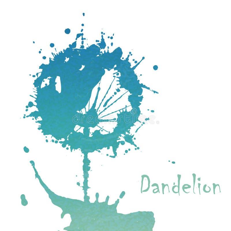Dente-de-leão abstrato da flor ilustração stock