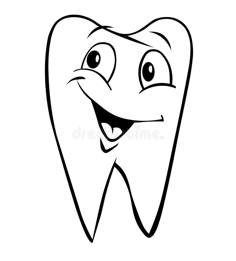 Dente de sorriso ilustração stock