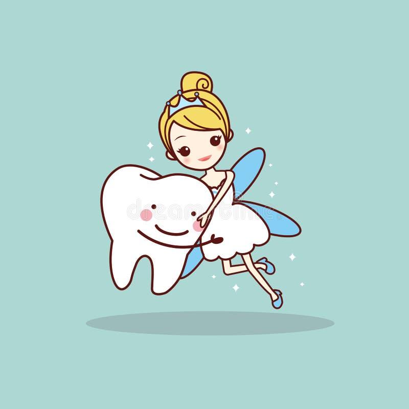Dente del fumetto con il fatato di dente royalty illustrazione gratis