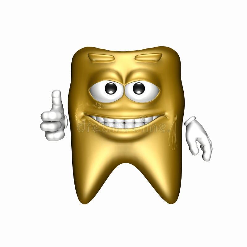 Dente dell'oro di smiley illustrazione di stock