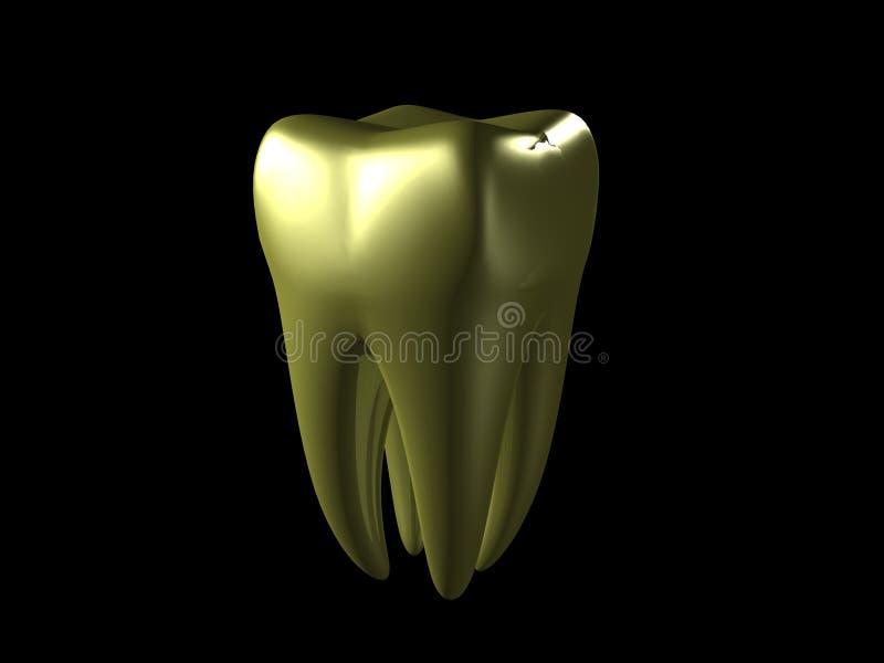 Dente dourado ilustração royalty free