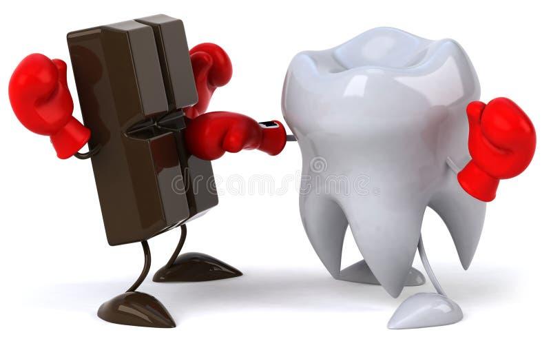 Dente e cioccolato illustrazione di stock