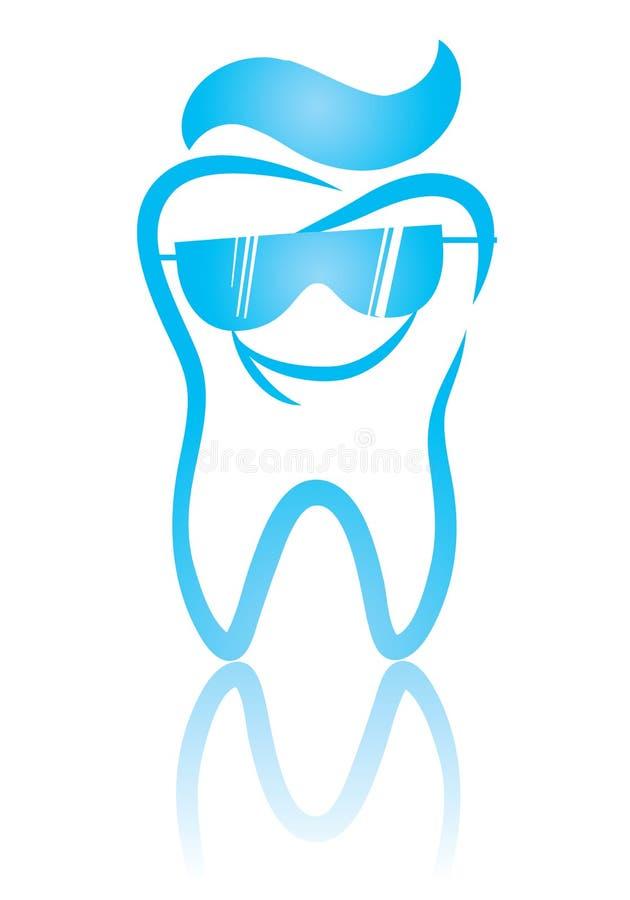 Dente e glassea frescos ilustração stock