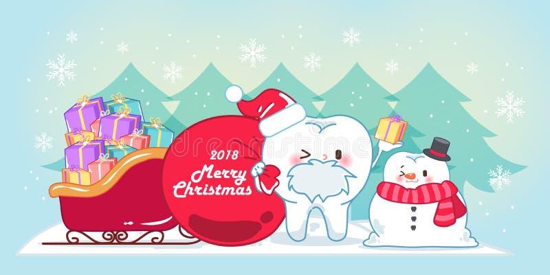Dente e Natale del fumetto royalty illustrazione gratis