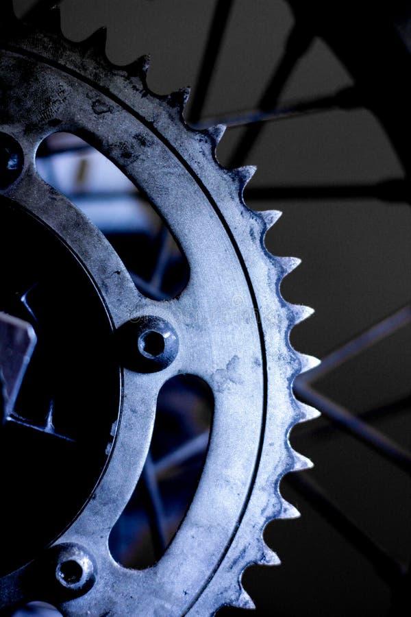 Dente per catena del motociclo fotografie stock