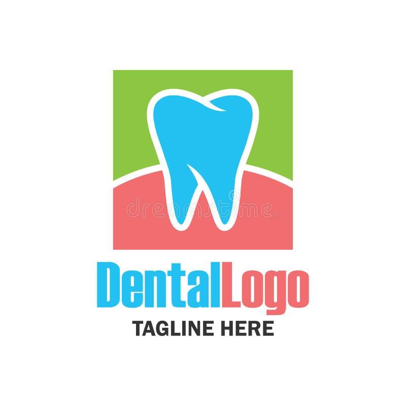 Dente per odontoiatria/stomatologo/logo dentario della clinica illustrazione vettoriale