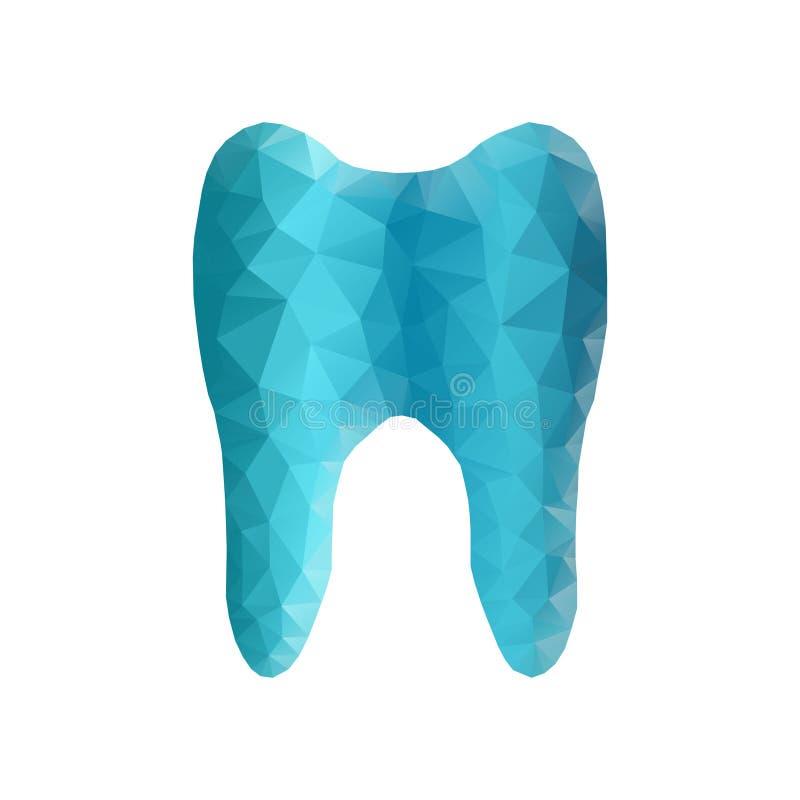 Dente, poligono illustrazione di stock