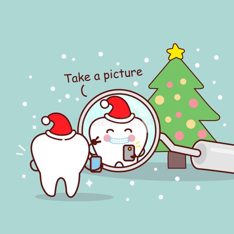 Dente sveglio della spazzola del dentista del fumetto illustrazione vettoriale