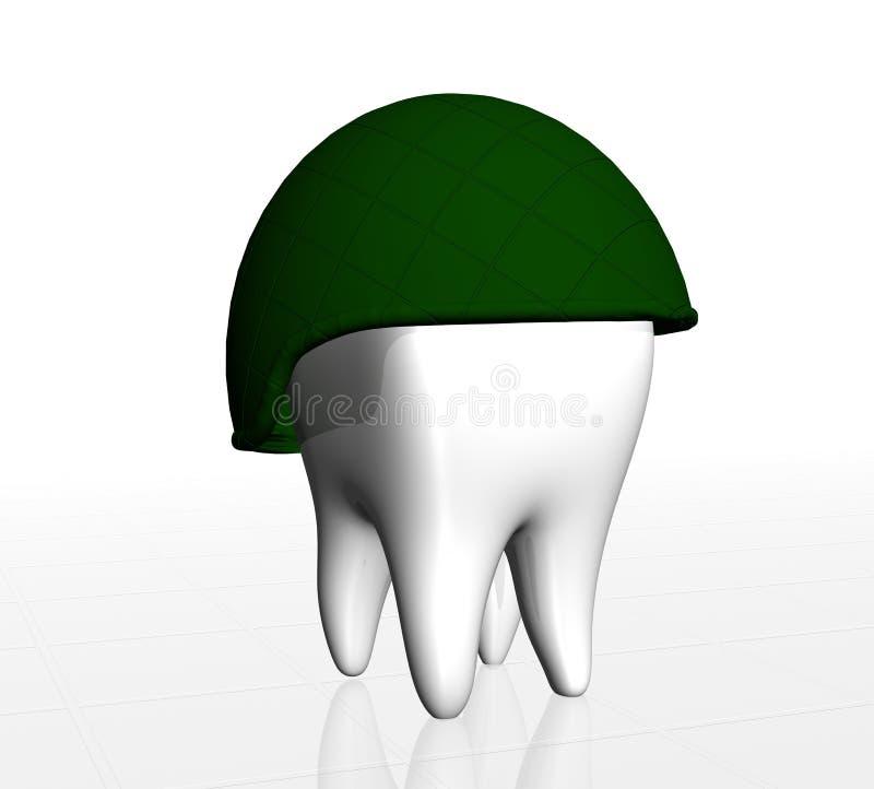 Dente umano illustrazione vettoriale