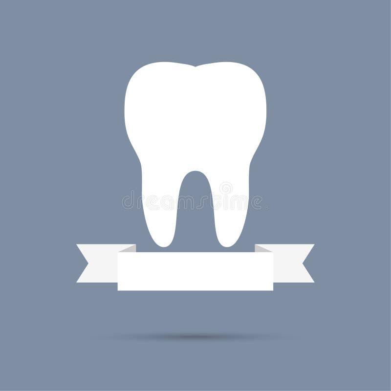Dente umano con un nastro royalty illustrazione gratis