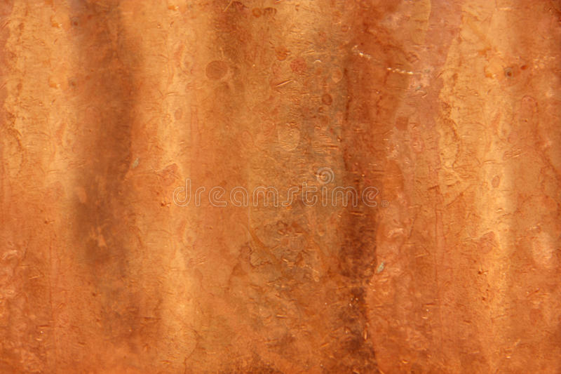 Dented Copper Texture stock photos