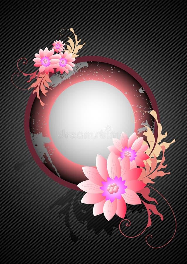 Dentelez la grunge florale illustration de vecteur