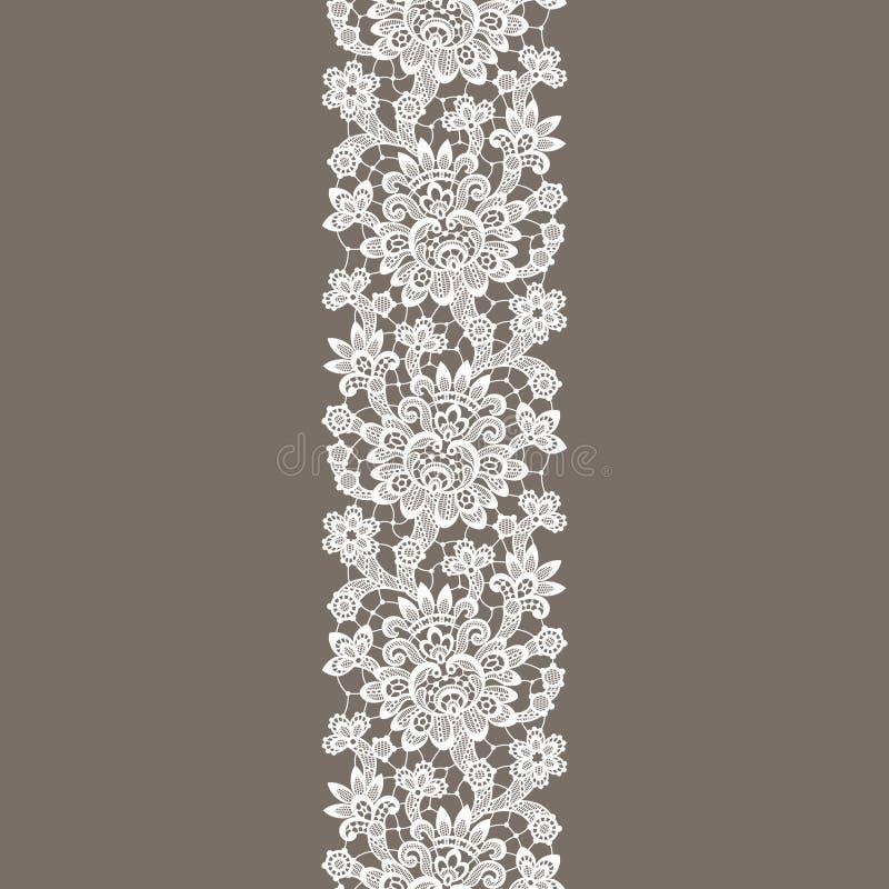 Dentelle blanche de vecteur Modèle sans couture vertical illustration libre de droits
