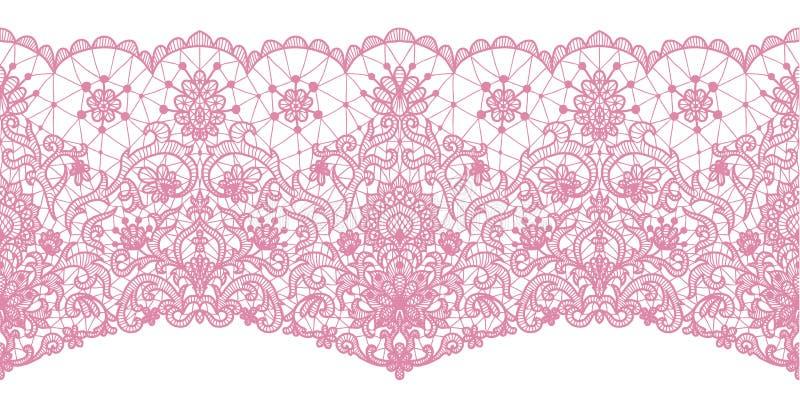 Dentelle rose sans couture illustration libre de droits