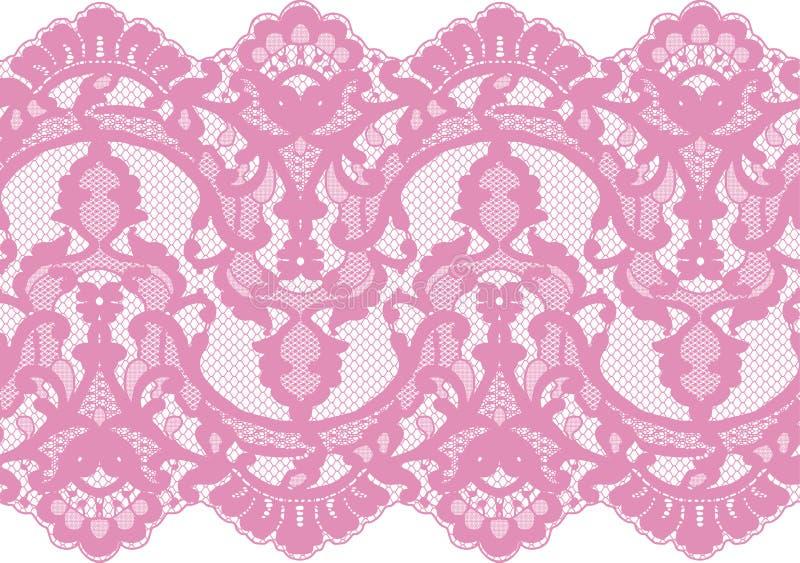 Dentelle sans couture de rose de vecteur illustration libre de droits