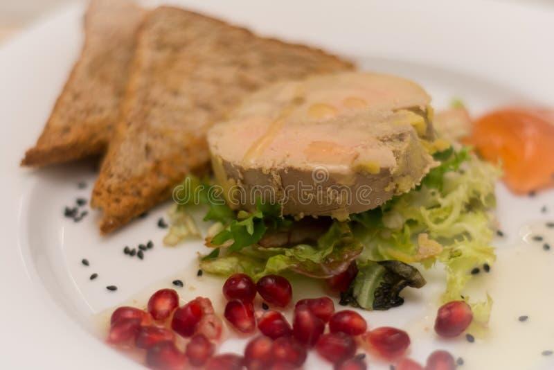 Dentelle-torchon de gras de Foie photo stock