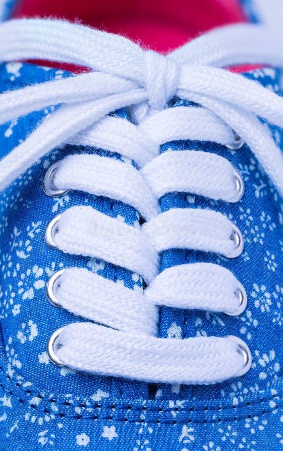 Dentelles de chaussure photos libres de droits
