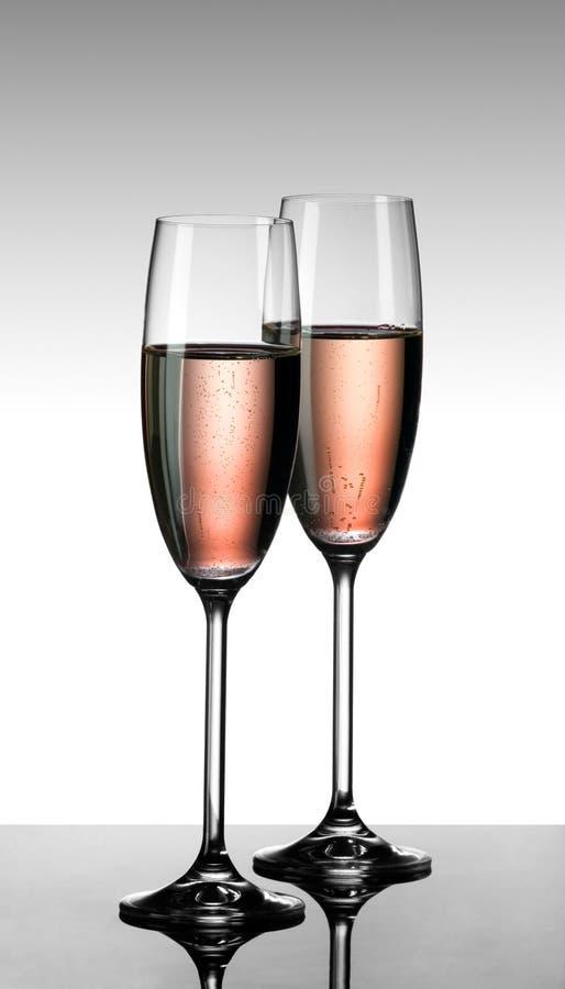 Dentelli il champagne fotografie stock libere da diritti