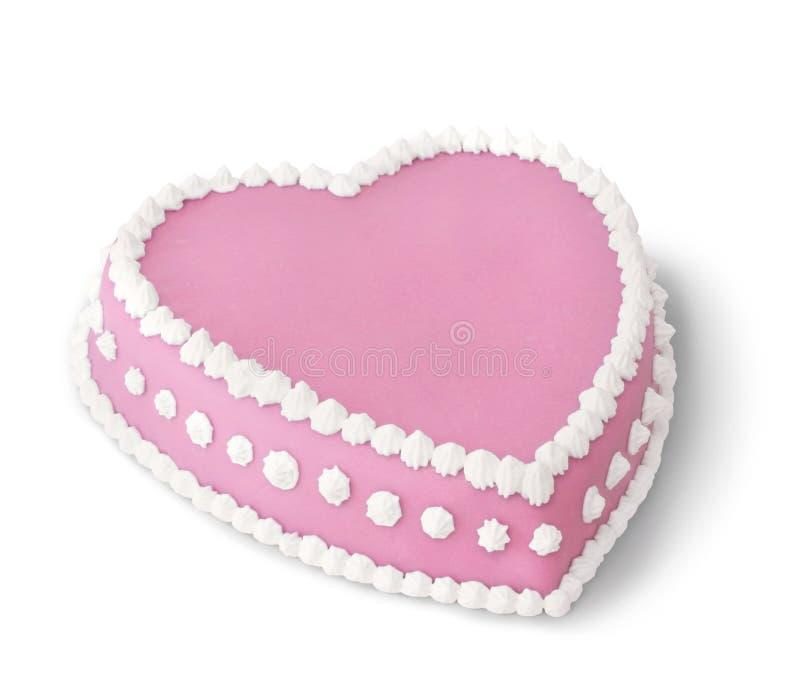 Dentelli la torta decorata immagine stock