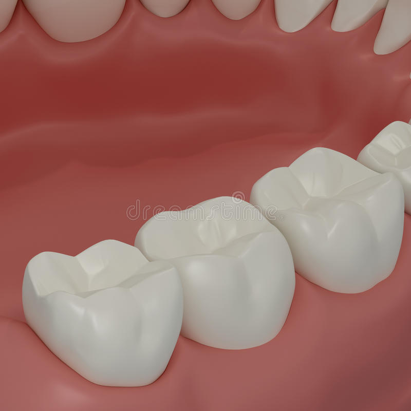 dentes 3D ilustração royalty free