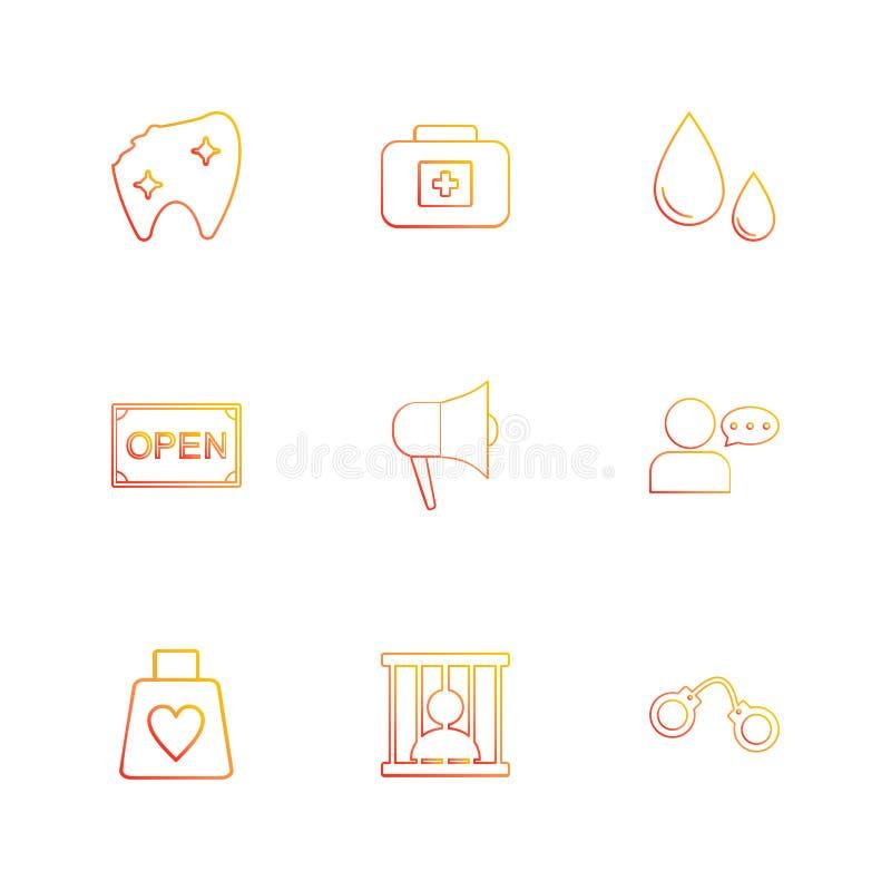 dentes, dano, caixa dos primeiros socorros, gota, sangue, aberto, orador, ilustração royalty free