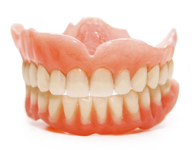 Dentes falsos foto de stock