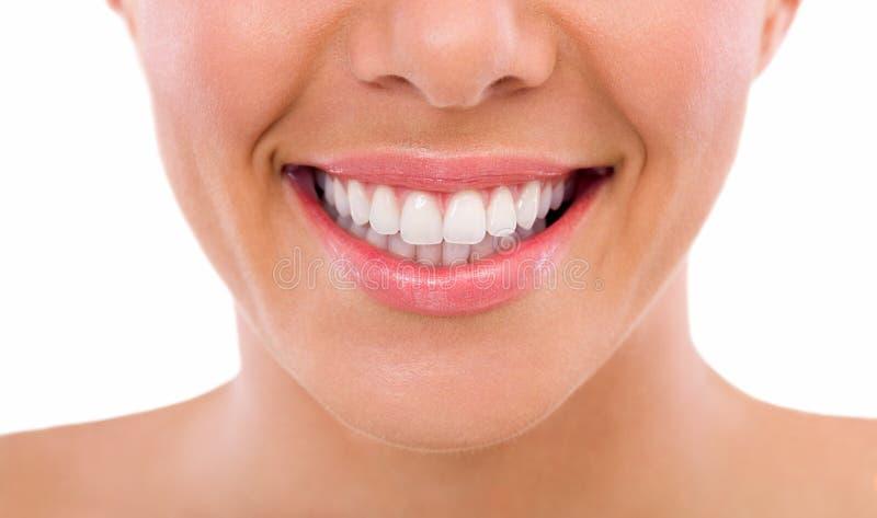 Dentes saudáveis da mulher imagem de stock