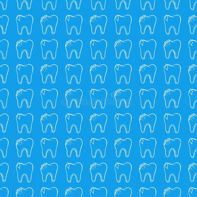 Dentes saudáveis e maus ilustração royalty free