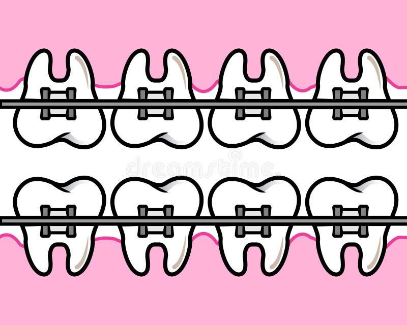 Denti dei ganci fotografie stock libere da diritti
