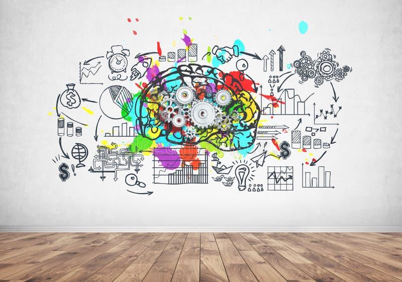 Denti del cervello e un business plan royalty illustrazione gratis