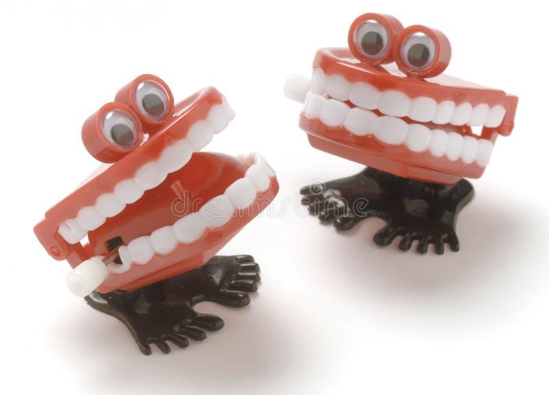 Denti di schiamazzo fotografie stock libere da diritti