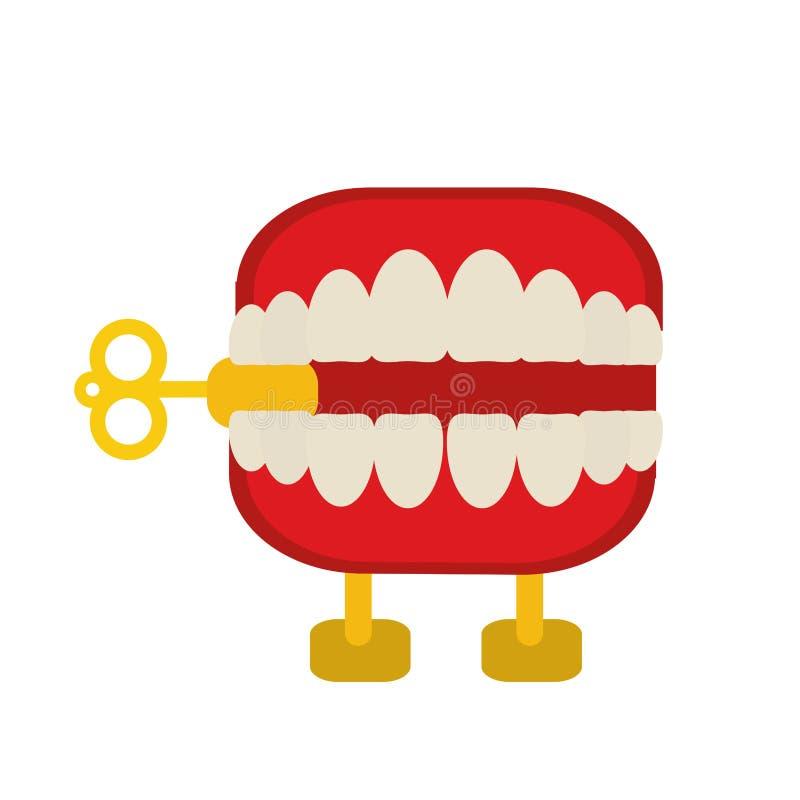 denti di schiamazzo di giorno dei pesci d'aprile royalty illustrazione gratis