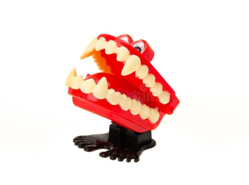 Denti di schiamazzo - finisca il giocattolo fotografie stock libere da diritti