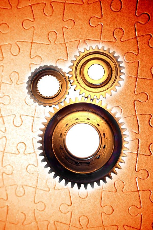 Denti e puzzle immagine stock