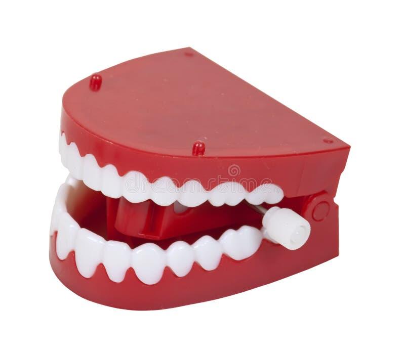 Denti falsi di schiamazzo fotografia stock