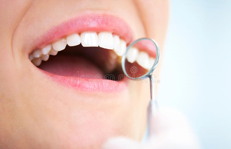 Denti sani fotografia stock libera da diritti