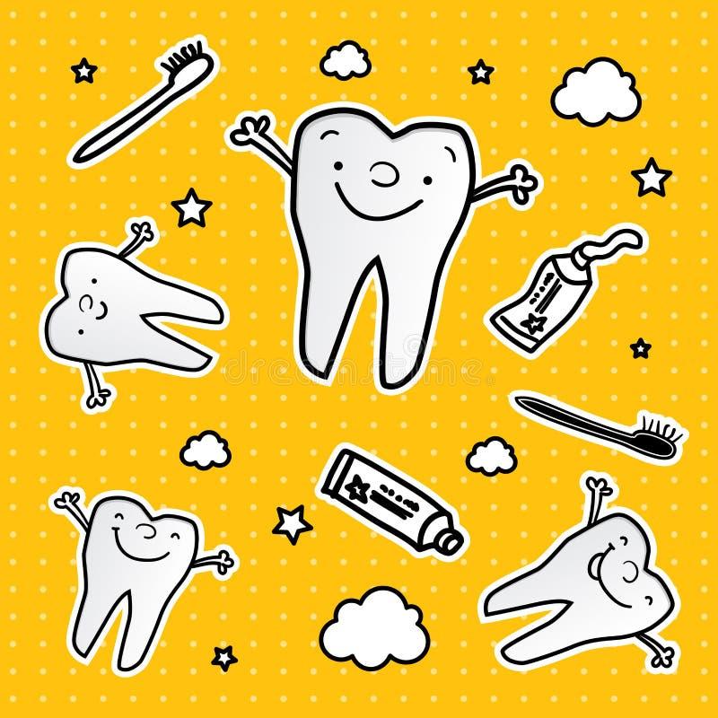 denti sani dei seamles del reticolo illustrazione di stock