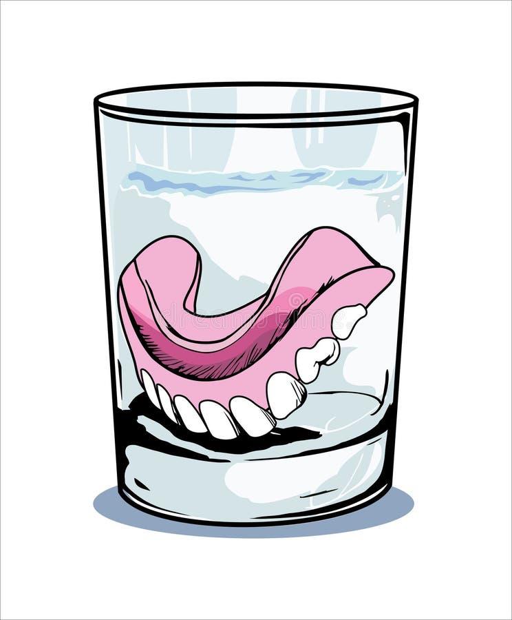 Dentier illustration stock