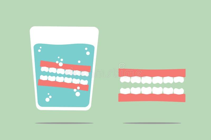 dentier illustration de vecteur