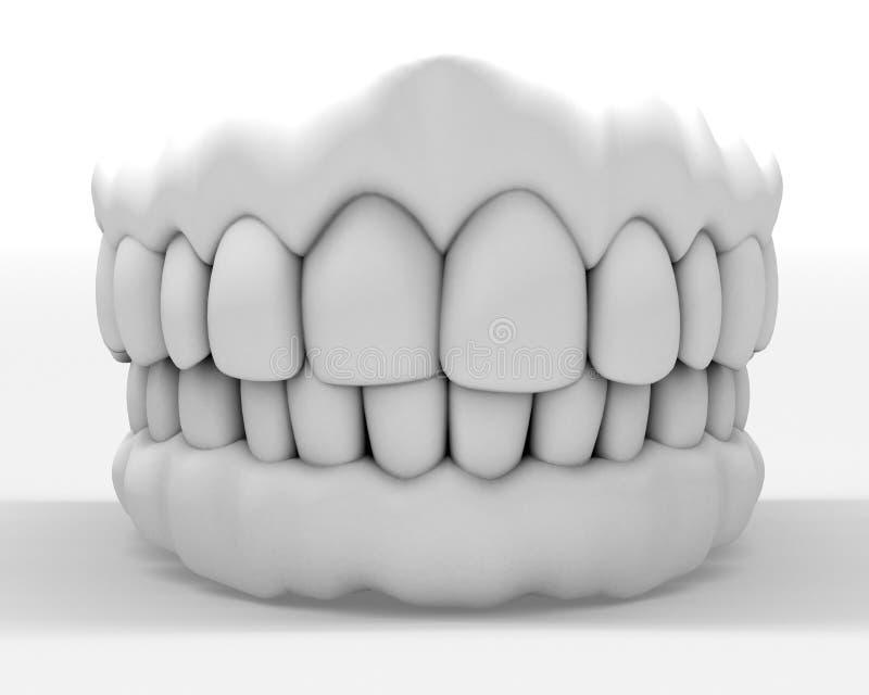 Dentier blanc illustration de vecteur