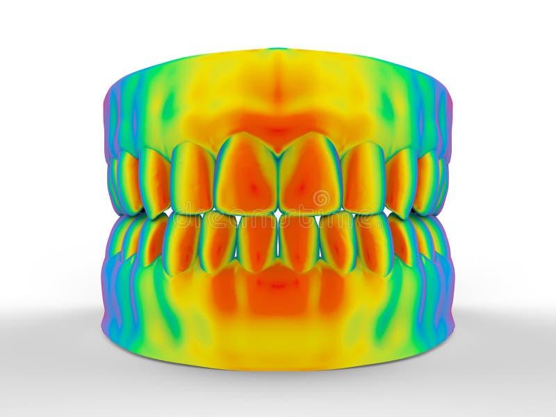 Dentier coloré par arc-en-ciel illustration libre de droits