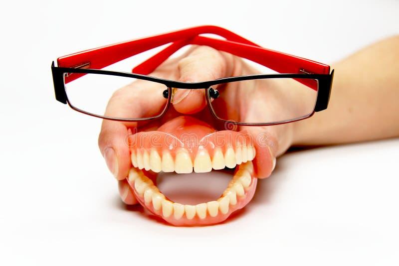 Dentier de sourire avec des glaces image libre de droits