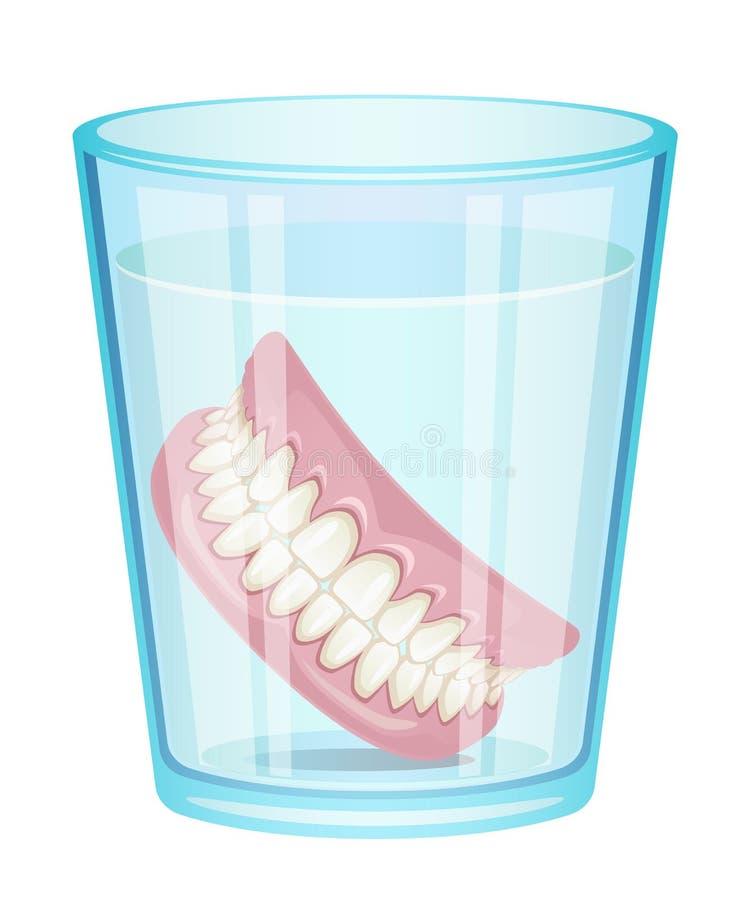 Dentier en verre illustration libre de droits