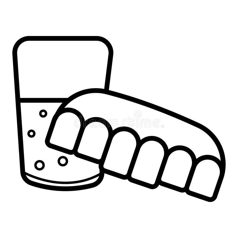 Dentier en verre d'eau illustration stock