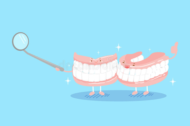Dentier mignon de bande dessinée illustration stock