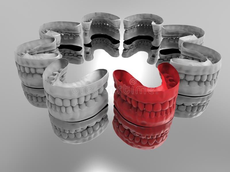Dentier visé dans la foule illustration libre de droits