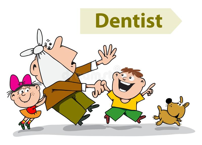 Download Dentist stock vector. Image of dentist, fear, kids, doctor - 14653340
